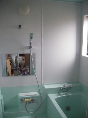 浴室壁 フィルム貼り 施工後
