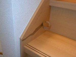 階段剥がれ補修 前